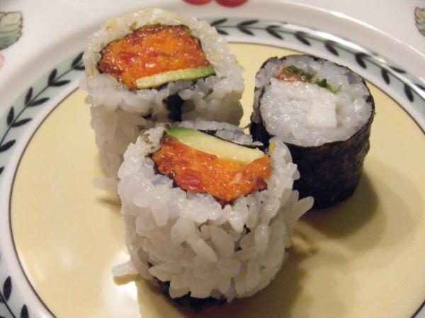 Spicy Tuna Maki, Yamaimo-shiso-umeboshi mak served with Yamazaki 17yr