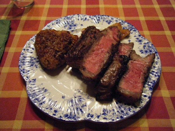 New York Steak Okage with Roast Garlic paired with Ardbeg 1990 Airigh Nam Beist 16yr