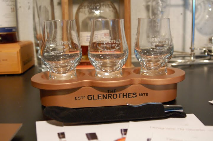 The Glenrothes Kindred Spirit tasting glasses